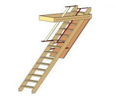 Loft Ladder (Parametric) Revit block
