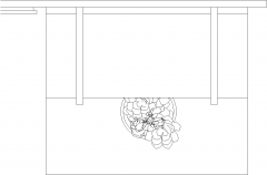 2094mm Width Round Mirror with Shelves Plan dwg Drawing