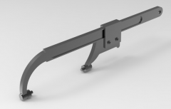 Autodesk Inventor ipt file 3D CAD Model of   Sliding jaw pin wrench:  A(mm)=8        B(mm)=2,5-4L(mm)=210Mass(kg)=0.38