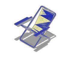 Deck Chair 3d dwg und SketchUp-Modell