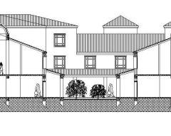 建筑 - 大三层楼房剖