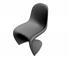 模压塑料椅的3ds Max模型
