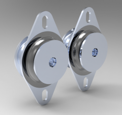 Solid-works 3D CAD Model of Solid Cone   Weight=128Load (kg.)=70Shore=60 Sh