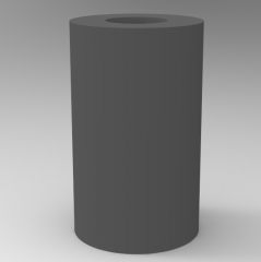 Autodesk Inventor ipt file 3D CAD Model of for Heavy Loads Urethanes, D (mm)=15L (mm)=25