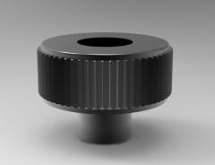 Autodesk Inventor ipt file 3D CAD Model of Knurled knobs with bush, H1=13H=31D1=M8T=14D2=16,5D=40