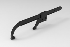 Autodesk Inventor ipt file 3D CAD Model of  Sliding jaw pin wrench:  A(mm)=12B(mm)=4-6L(mm)=360Mass(kg)=0.82
