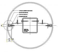 Structural - Round Aluminium Column Fixing Detail 01