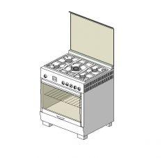 Gas oven range revit model