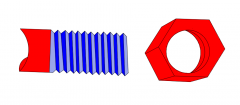 Nut and Bolt dwg drawing