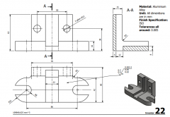 3 & 5 Axis CNC Machinable 2D CAD Drawing 22