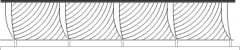 2339mm Height Wire Design Railing Front Elevation dwg Drawing