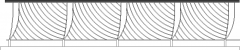 2339mm Height Wire Design Railing Rear Elevation dwg Drawing
