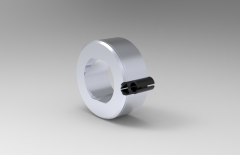 Solid-works 3D CAD Model of Slotted  Bush for Carr Lock, ID-16mm,A SLOT ACTUAL-.472,L-30mm,Required Hole D-0.709