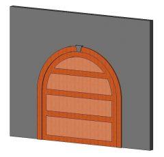 Garage Door Arched Revit Family