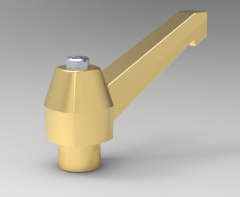 Autodesk Inventor ipt file 3D CAD Model of clamping lever  M8