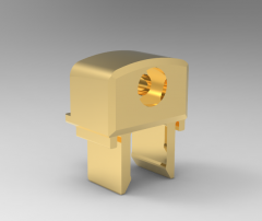 Solid-works 3D CAD Model of Ball shaped door lock, H=10H1=23H2=8