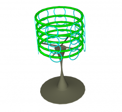 Lâmpada de mesa de designer skp