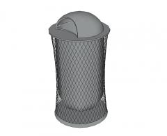 Waste bin - outdoor sketchup model
