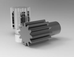 Autodesk Inventor 3D CAD Model of spur gear B=15, N=16, D16D3-15D2-13L18     Module-1