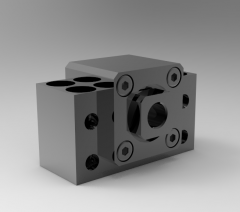 Solid-works 3D CAD Model of Fixed bearing units block, SIZE:15   D1=15D2=5,5