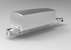 Solid-works 3D CAD Model of Actuator WITH Lifting Force 3500 N, P of spindle=4V=12I=8Apull/push force=1500   Self lock max. (N)=1500
