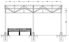 Architectural - Pergola Detail and Elevation 01