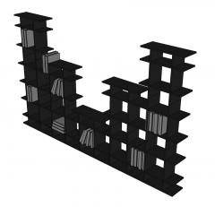 Modulares Bücherregal SketchUp-Modell