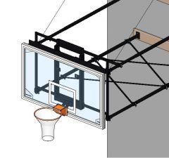 Basketball net suspended Revit model