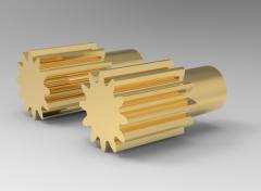 Autodesk Inventor 3D CAD Model of spur gear B=15, N=18, D18D3-15D2-15L20     Module-1