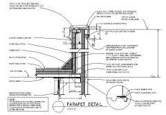 Architectural - Parapet Wall Detail 02