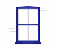 Victorian Schiebefenster - Farbe
