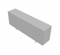 オフィスサイドボード3DS MAxモデル