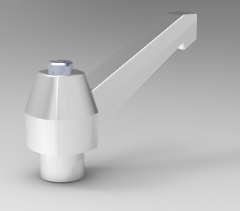 Autodesk Inventor ipt file 3D CAD Model of clamping lever  M14