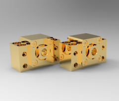 Solid-works 3D CAD Model of Fixed bearing units block, SIZE:20   D1=20D2=6,6