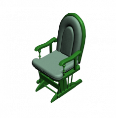Rocking chair 3DS Max model