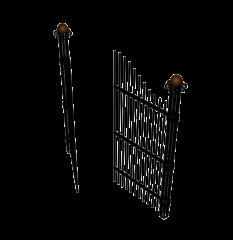 Iron gates 3DS Max model