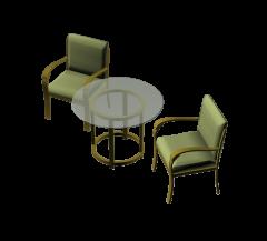 Tavolino e sedie modello 3DS Max