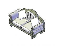 Ornate Armchair 3D dwg