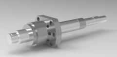 Solid-works 3D CAD Model of Rolled Ball Screw with Standard Nut, D=20Lead=5L=200-2000