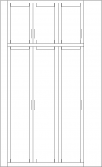 2900mm Height Corner Closet Front Elevation dwg Drawing