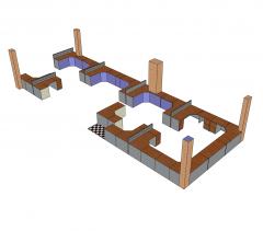 Open plan office design Sketchup model