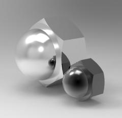 Autodesk Inventor 3D CAD Model of Cap Nut M6H9.5h5