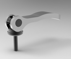 Autodesk Inventor ipt file 3D CAD Model of Cam Lever with Casted Handle, Thread size=M6D [mm]=18