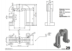 3 & 5 Axis CNC Machinable 2D CAD Drawing 29