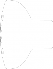 29mm Diameter Circular Drawer Handle Right Side Elevation dwg Drawing