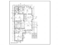 2 Story House Design with Garage & Lounge First Floor Plan .dwg