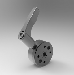 Solid-works 3D CAD Model of Rotary discs with round positioning plates, D=54