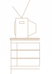 Wall TV library dwg