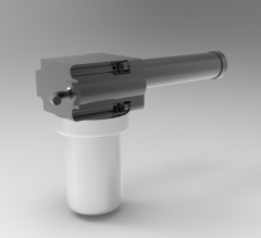 Solid-works 3D CAD Model of Actuator with Lifting Force 1200 N, Max. Lifting Force=130Lifting Speed= 60