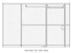 頑丈なワイヤーフェンスc / wスライディングドア